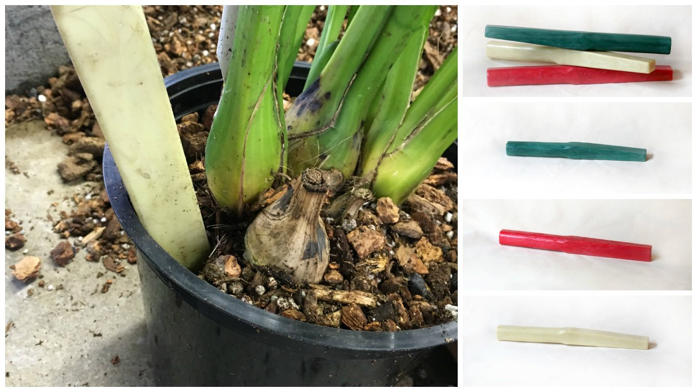 """Waldor Gardener's Tamping and Potting Stick Tool for Orchids and Household Plants, 12"""" L, Red"""