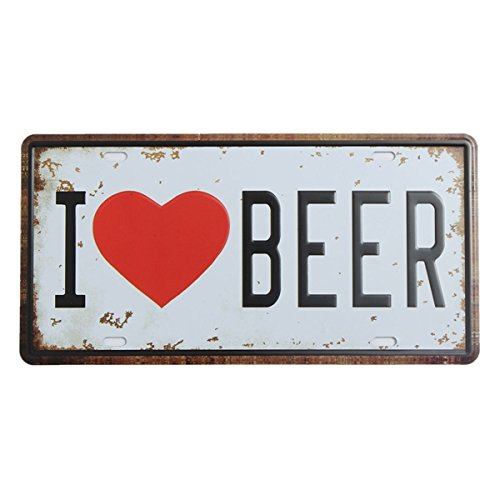Beer Plate Tin Sign Vintage Metal Plaque Poster Bar Pub Home Wall Decor