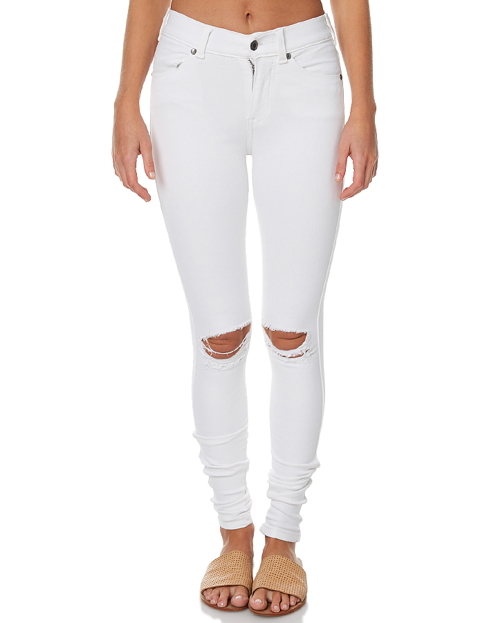 ec006c7c9e18 2017 Fashion Ripped white Lady jeans denim High Waisted Ripped Skinny  Pencil Jeans