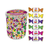 High Quality Toffypi Mini Fruity Soft Chew Candy 1 Kg Transparent Plastic Acetate Jar