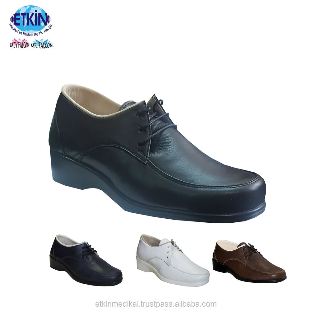 Shoe Up Lace Model Orthopedic Leather Diabetic Best Women Safety Shoes Genuine UvgI6wnqxB