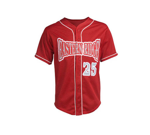 Custom sublimatie printproces honkbal jerseys, hoge kwaliteit button down baseball tops