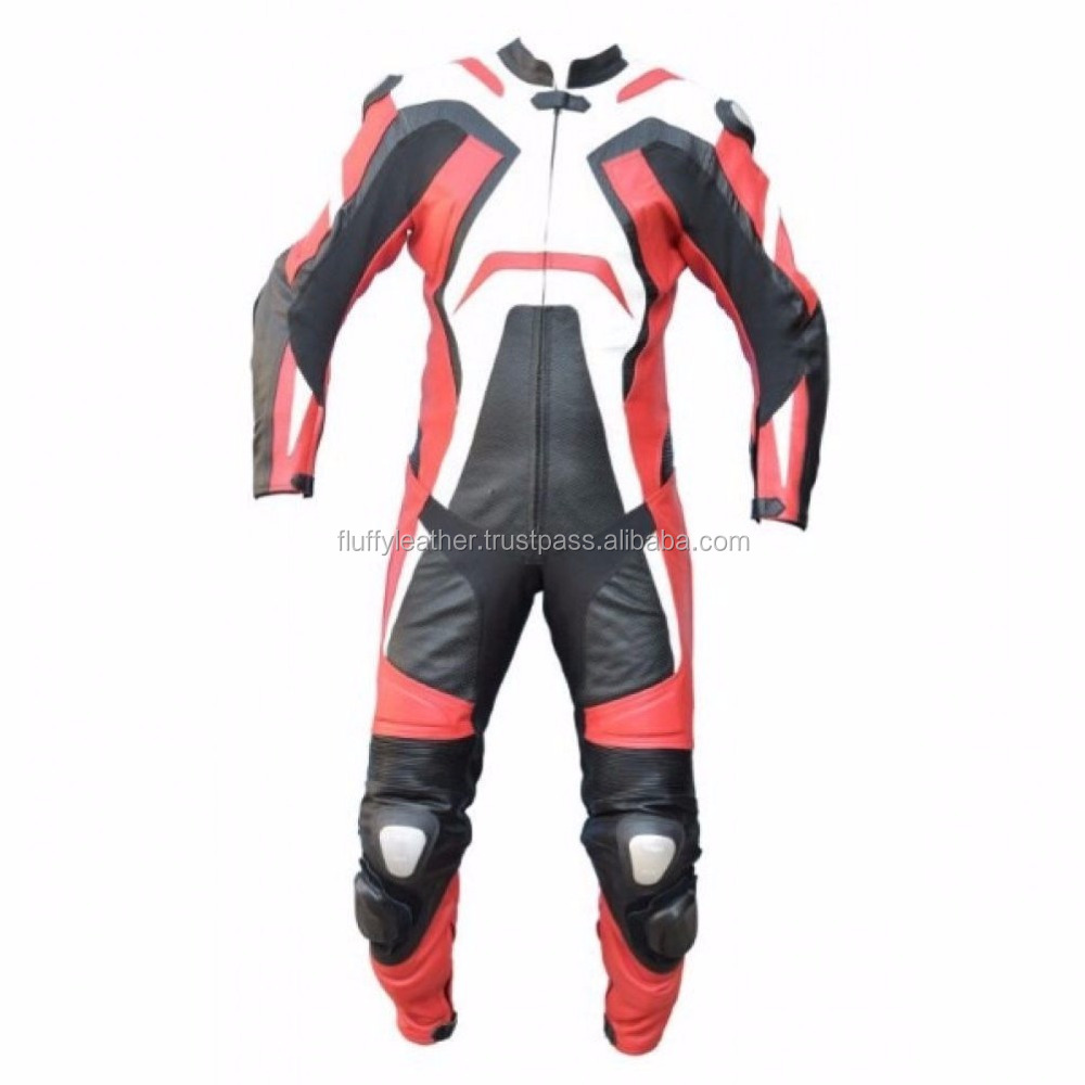 New Quality Motorbike Motorcycle Genuine Cowhide Leather Racing Suit CE Armour--MS-143