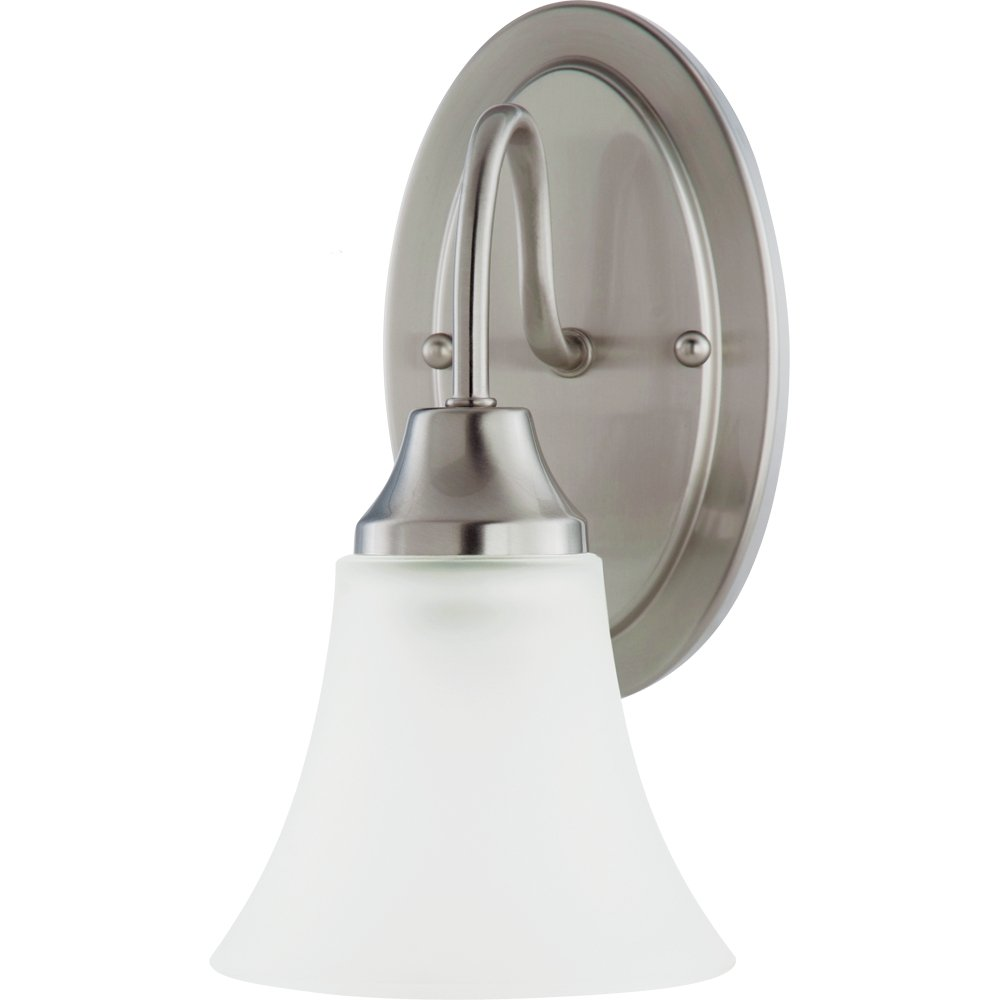 Sea Gull Lighting 41806-962 Bathroom Sconce with Satin EtchedGlass Shades, Brushed Nickel Finish