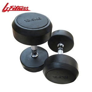 Best selling fitness accessory gym equipment free weights rubber dumbbells
