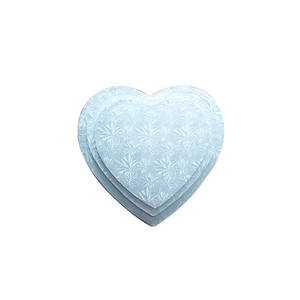 "heart shaped 1/2""thick cardboard silver cake drum"