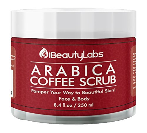 Arabica Coffee Exfoliating Face And Body Scrub | Antimicrobial Scrub For Dry And Dead Skin Removal | 100% Natural Facial Scrub And Exfoliator, Paraben And Sulphate Free