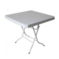 Square 30 Inch Foldable Plastic Table