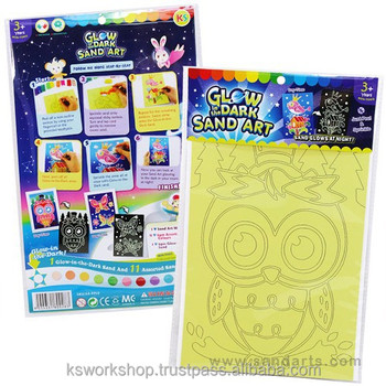 c6890d8a69242 Glow-in-the-dark Sand Art Kit - Kids Craft Educational Toys - Sand Painting  Sticker Cards - Buy Glow-in-the-dark Sand Art Kit,Sand Painting ...