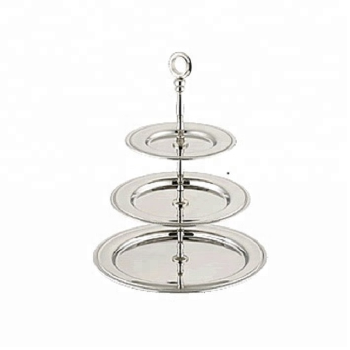 3 Tier Silver Cake Stand For Parties