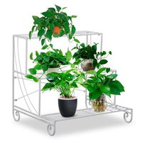 Nursery plant stand Ladder Design 3 Tier clay pot stand