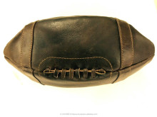 Leather Baseball Washbag