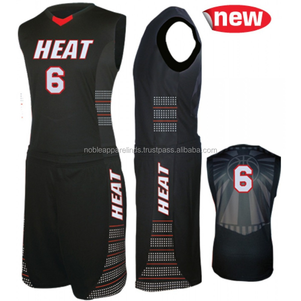 Noble Ind Nice Sublimation Customized Wholesale billige leere Basketball-Trikots black & white Grey Color