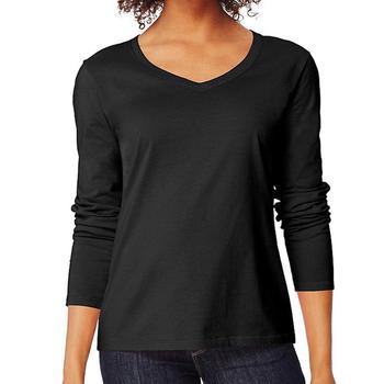 Fashion Slim Fit Regular Fit Unisex Hitam V Neck Lengan Panjang Pola Kaos Polos Buy Kaos Lengan Panjang Pria Slim Fit V Neck Gadis Polos Lengan Panjang T Shirt Hitam Ketat Fit Lengan Pendek