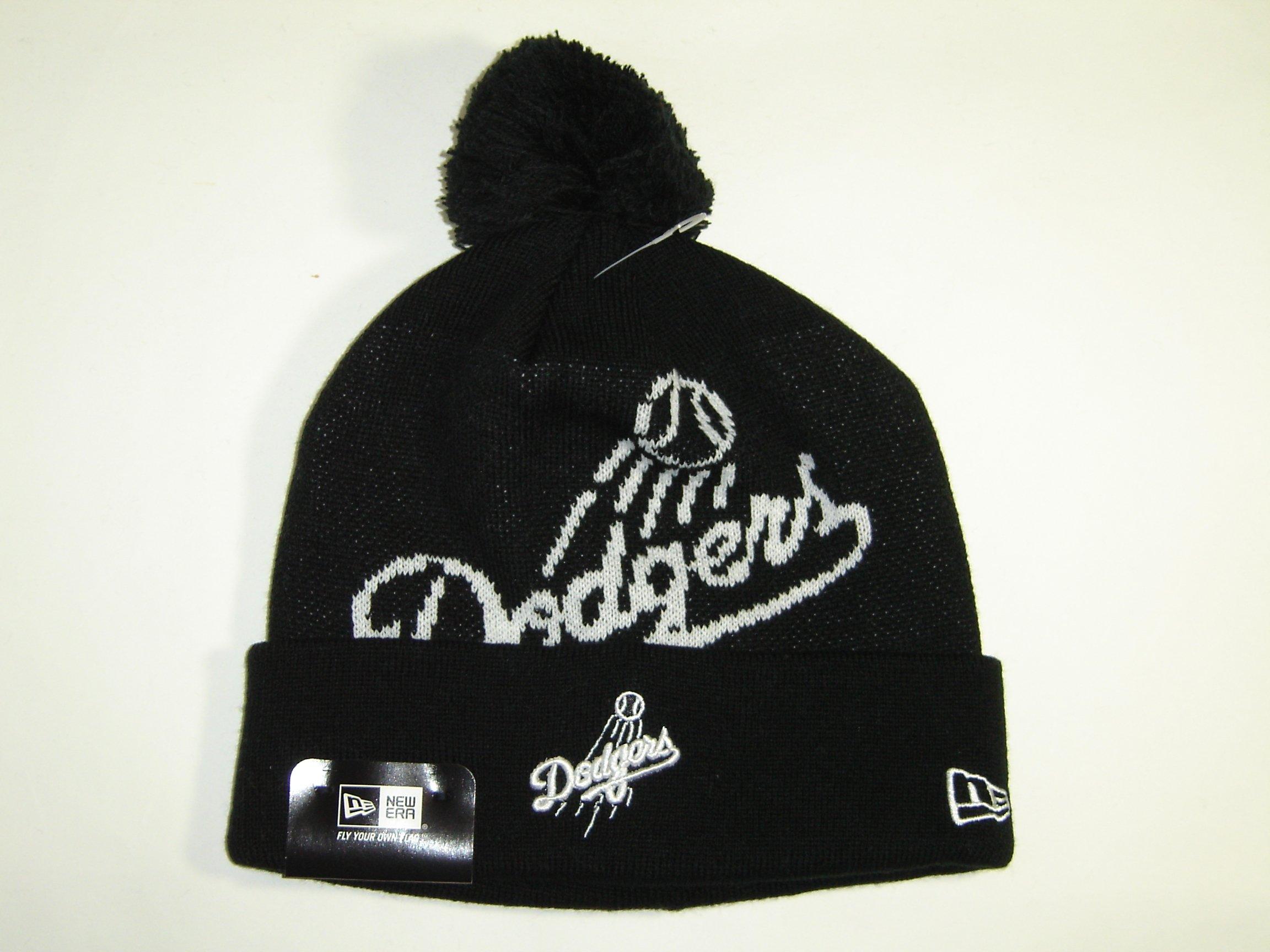 size 40 c7525 74bfc Get Quotations · New Era MLB Los Angeles Dodgers Logo Cuffed Knit Pom Beanie  Cap NewEra