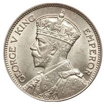 George V King emperor silver coin