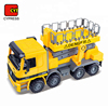 friction street lamp car construction trucks toys with elevator