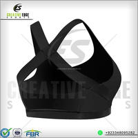 Wholesale gym fitness compression nude ladies bra and panty set sport bra / Black sexy bra gym bra yoga bra high CE-GYM-B07