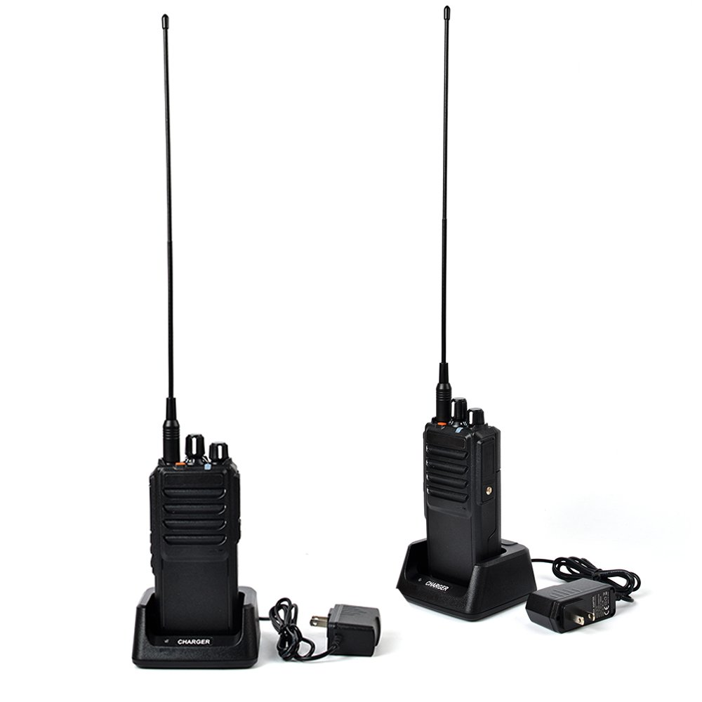 TWAYRDIO 25W/10W High Power UHF 400-480MHz Two-Way Radio Portable Handheld Walkie Talkie VOX Ham Transceiver 4000mAh Battery with Programming Cable(2Packs)