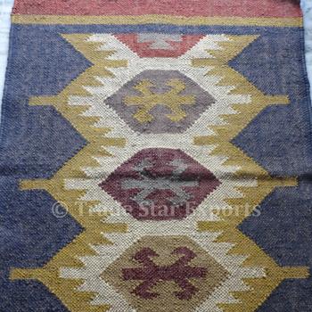 Ethnic Kilim Rug 2x3 Carpet Runner Hand
