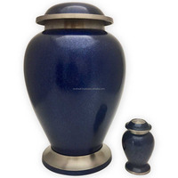 Blue Bloom Cremation Urn for Human Ashes
