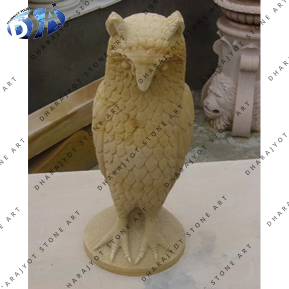 Indian Beautiful Yellow Sandstone Standing Owl Statue - Buy Indian ...
