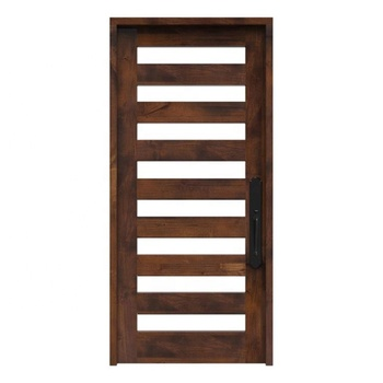 Modern Design Single Double Wood Glass Exterior Door
