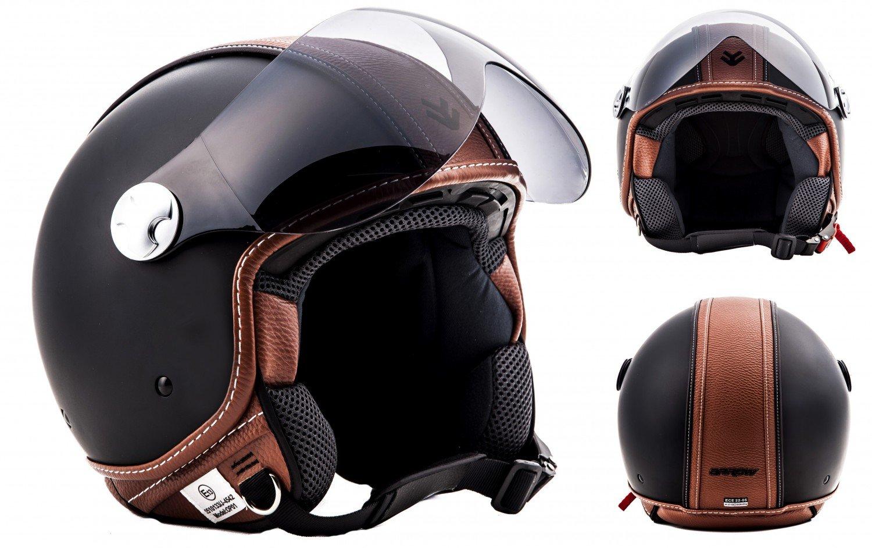 Moto h44-Flower Vespa Scooter Jet Helmet Motorcycle Helmet Visor Scooter XS S M L XL