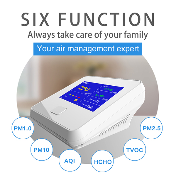 Portable PM 2.5 detector for Air Quality Monitoring System New Design
