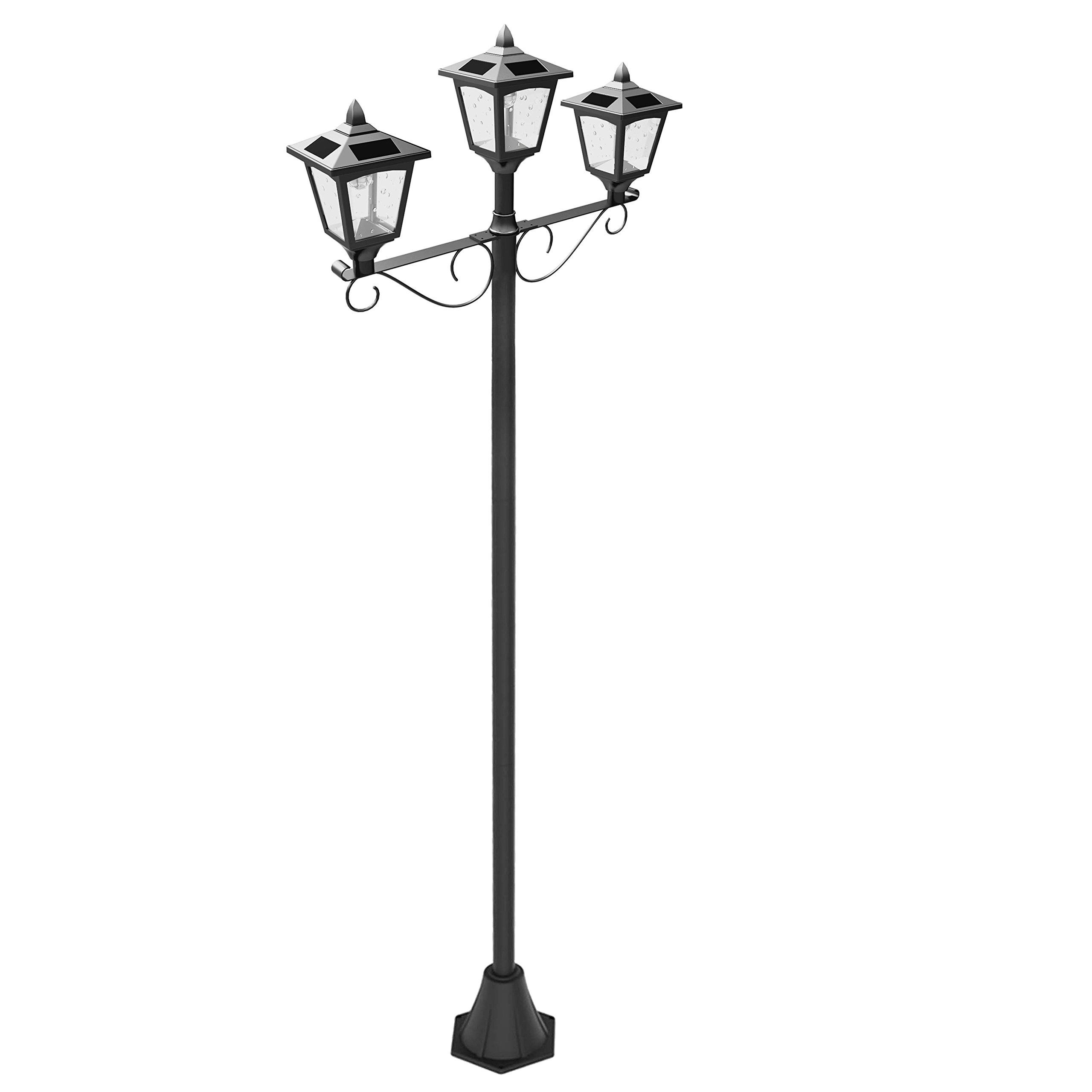 Cheap 3 Head Lamp Post Find Deals On Line At Sunny Solar Light Gardensolar Yard Lights Powered Lighting Get Quotations Upgrade 72 Triple Street Vintage Outdoor Garden
