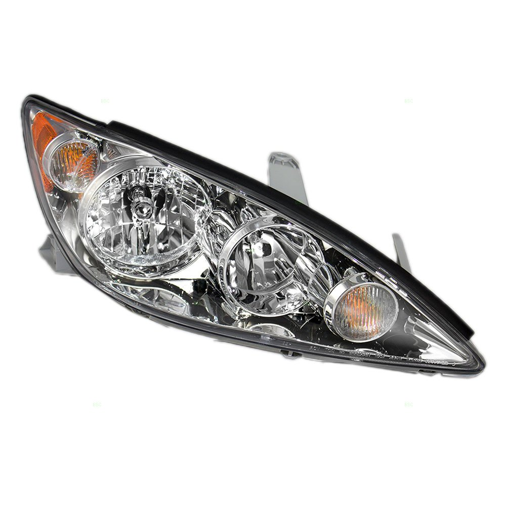 Get Quotations Pengers Headlight Headlamp With Chrome Trim Replacement For Toyota Camry 8111006180