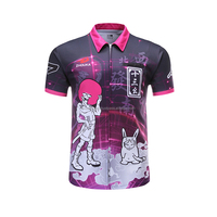 High quality darts jersey new design darts clothing polo shirt custom sublimation darts shirt,Sublimation print polo darts shirt