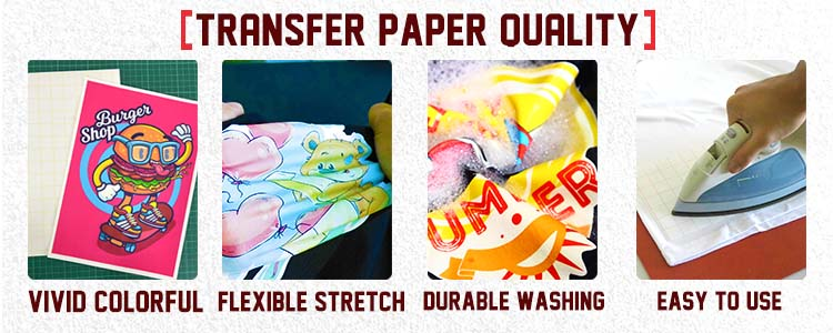 Light Fabric Laser Printing Garment Transfers Paper