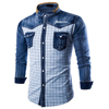 New design apparel 100% cotton Long Sleeve Jeans Shirt