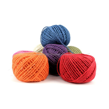 Yellow Color Jute Yarn, Jute Color Twine