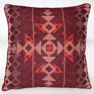 Natural Linen Look IKAT Pattern Jute Printed Cushion Cover