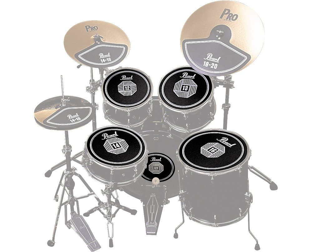 Pearl RP50 Rubber Disk Set for Drum Set (12, 13, 14, 16-inch, Bass Drum)