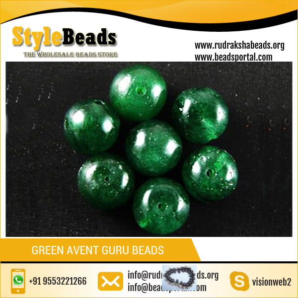 Low Price of Loose Green Avent Guru Beads / Gemstone Beads / Aventurine Stone