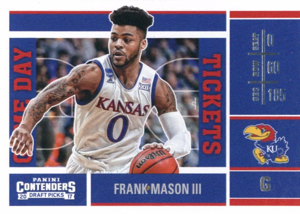 2017-18 Panini Contenders Drafts Picks Game Day Tickets #35 Frank Mason III Kansas Jayhawks Basketball Rookie Card