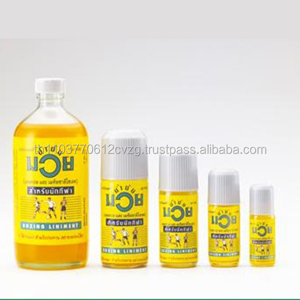 Evident Effect Muay Thai Namman Muay Oil Thai Boxing Oil Liniment Muscular Pain 60cc 4 Pack