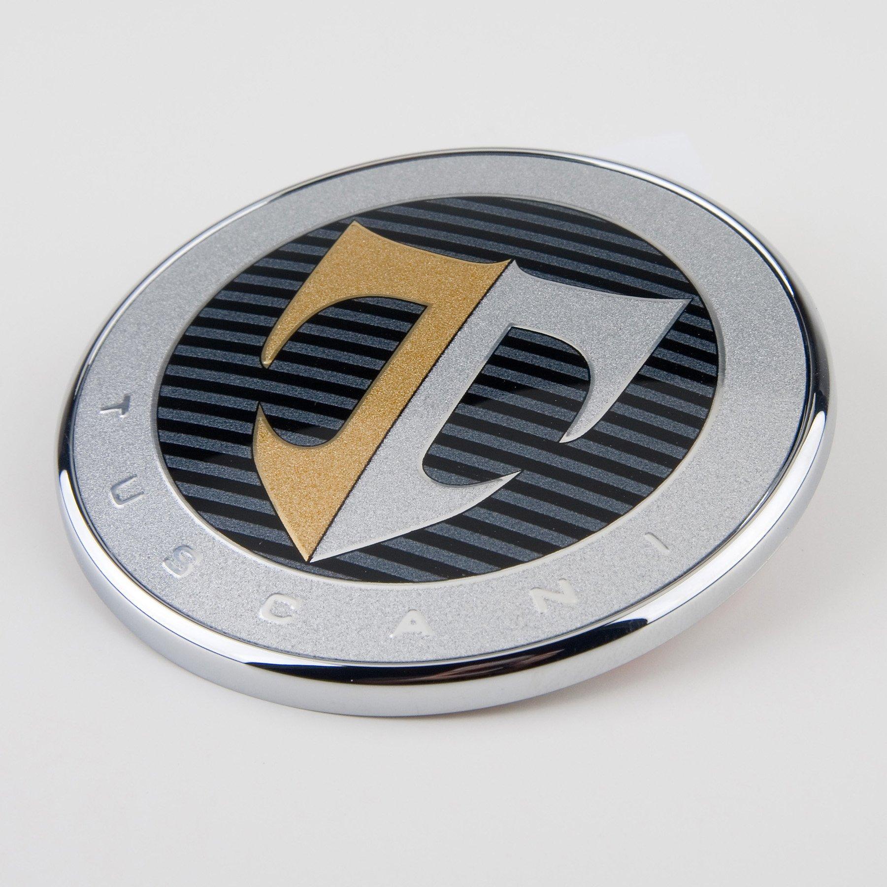 Hyundai Motors Genuine 863202C700 Coupe SIII 863302C000 Front Hood Rear Trunk 2.7 Elisa Tuscani Logo Emblem 4-pc Set For 07 08 Hyundai Tiburon