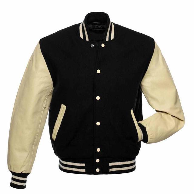 Homme Varsity Jacket Letterman Baseball American College University bouton manteau
