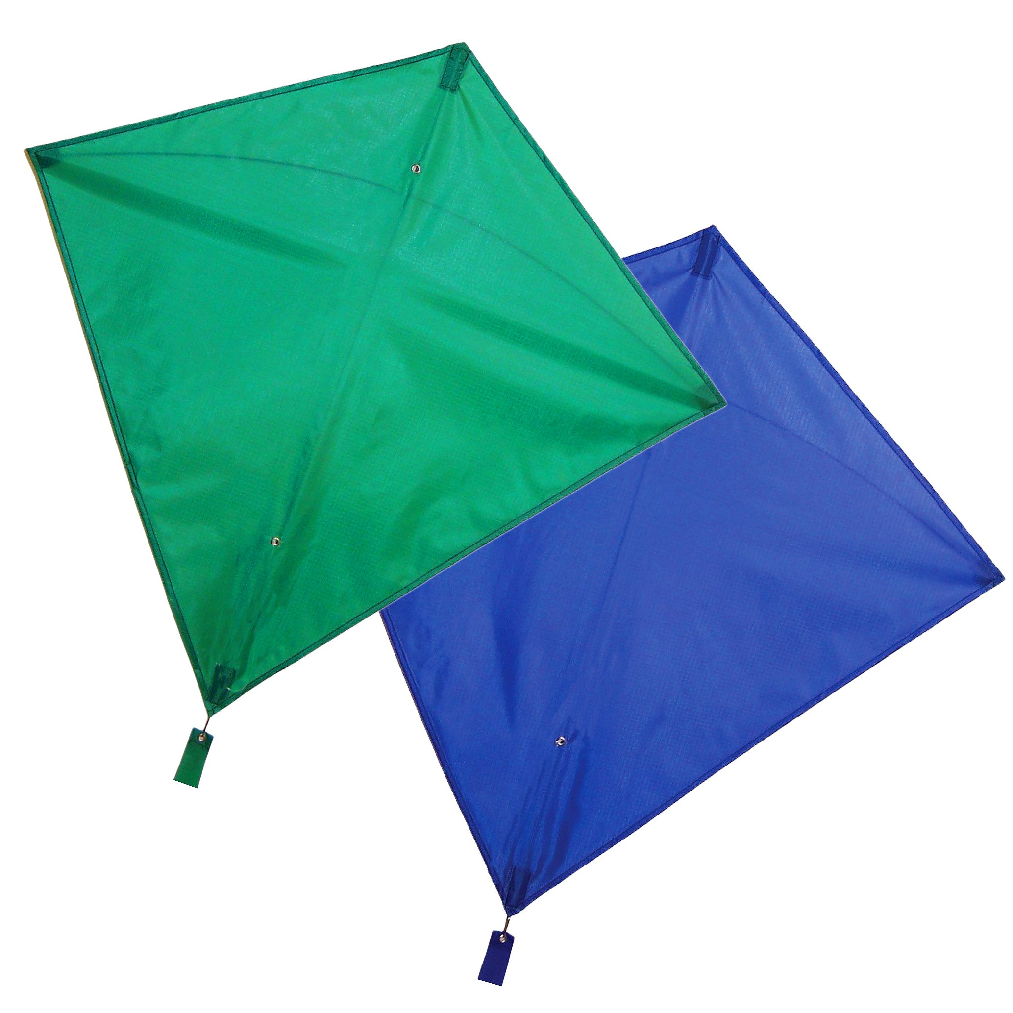 Maven Gifts: In The Breeze 2-Pack Kite Bundle – 30-Inch Green Colorfly Diamond Kite with 30-Inch Blue Colorfly Diamond Kite – Great for Beginners and Kids