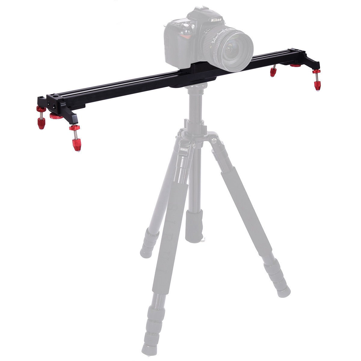 """Safstar 24"""" Aluminum Alloy Camera Track Slider Video Stabilizer Rail with 4 Ball-Bearings for DSLR Camera DV Video Camcorder Film Photography"""