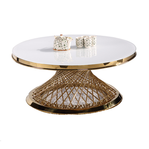 luxury japanese morden mirrored round coffee side table set guangzhou round glass dubai contemporary silver african coffee table