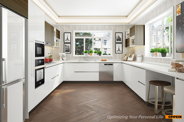 Oppein White Laminate Sheet Mdf Board Kitchen Cabinet View Kitchen Cabinet White Oppein Product Details From Oppein Home Group Inc On Alibaba Com