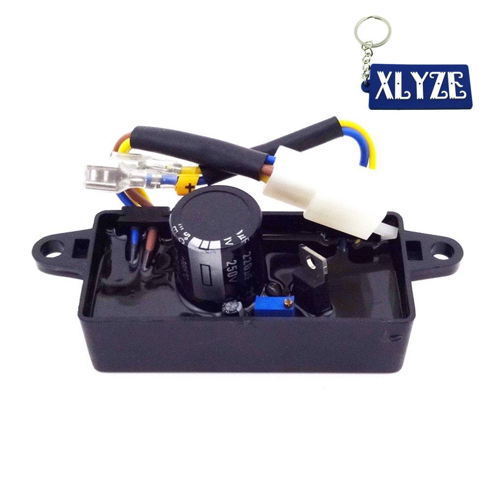 XLYZE Single Phase AVR Voltage Regulator Rectifier For 2KW-3KW Chinese Generator