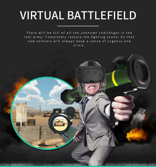 Newest HTC Vive VR Station Platform Bazooka 9D VR for Sale with Funny Shooting Games