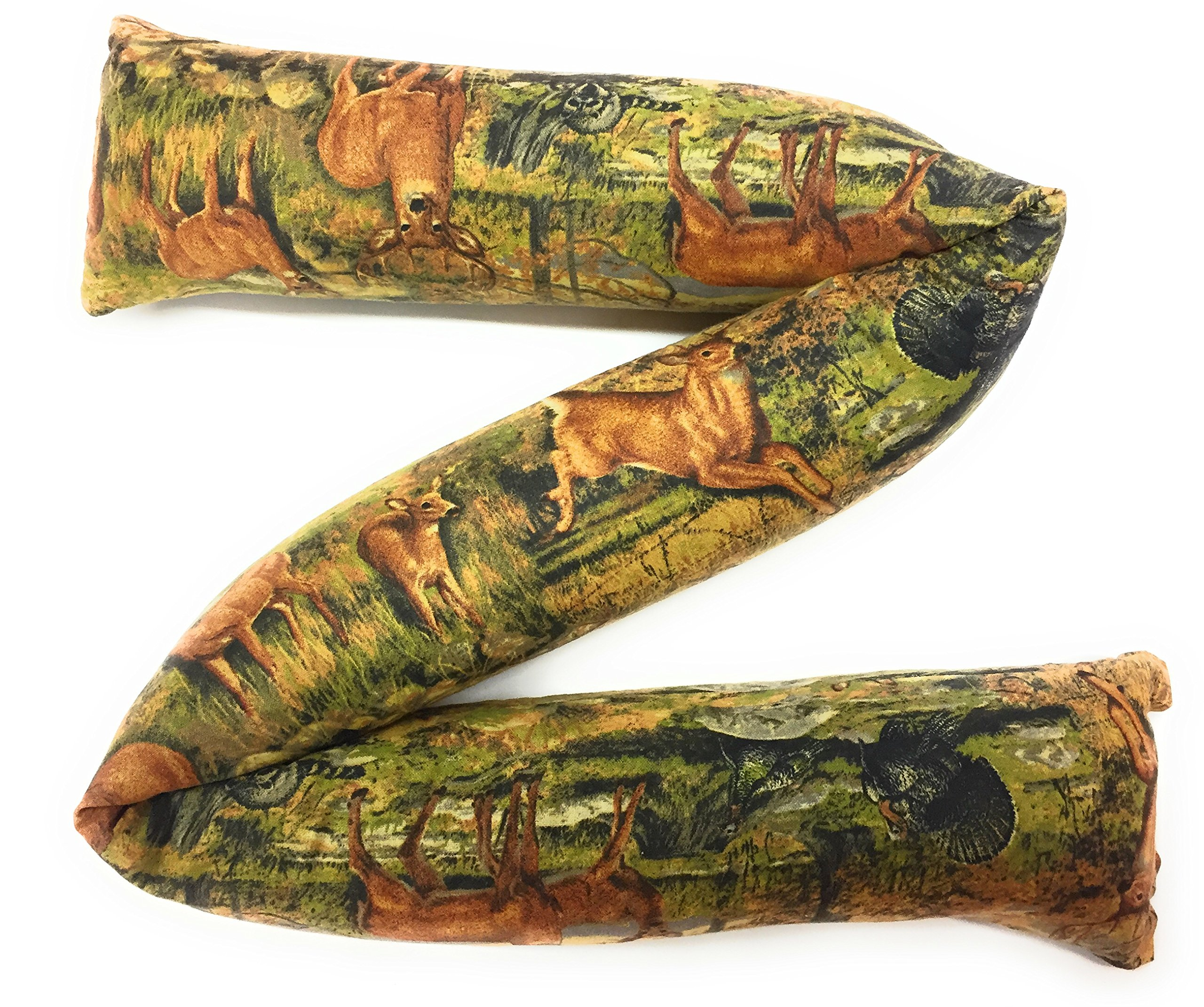 """Door Draft Stopper Filled with Fragrant Balsam - Standard 2"""" X 38"""" – Forest Wildlife - Quality USA Made"""