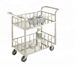hotel and restaurant stainless steel tea service liquor trolley/service trolley for restaurant